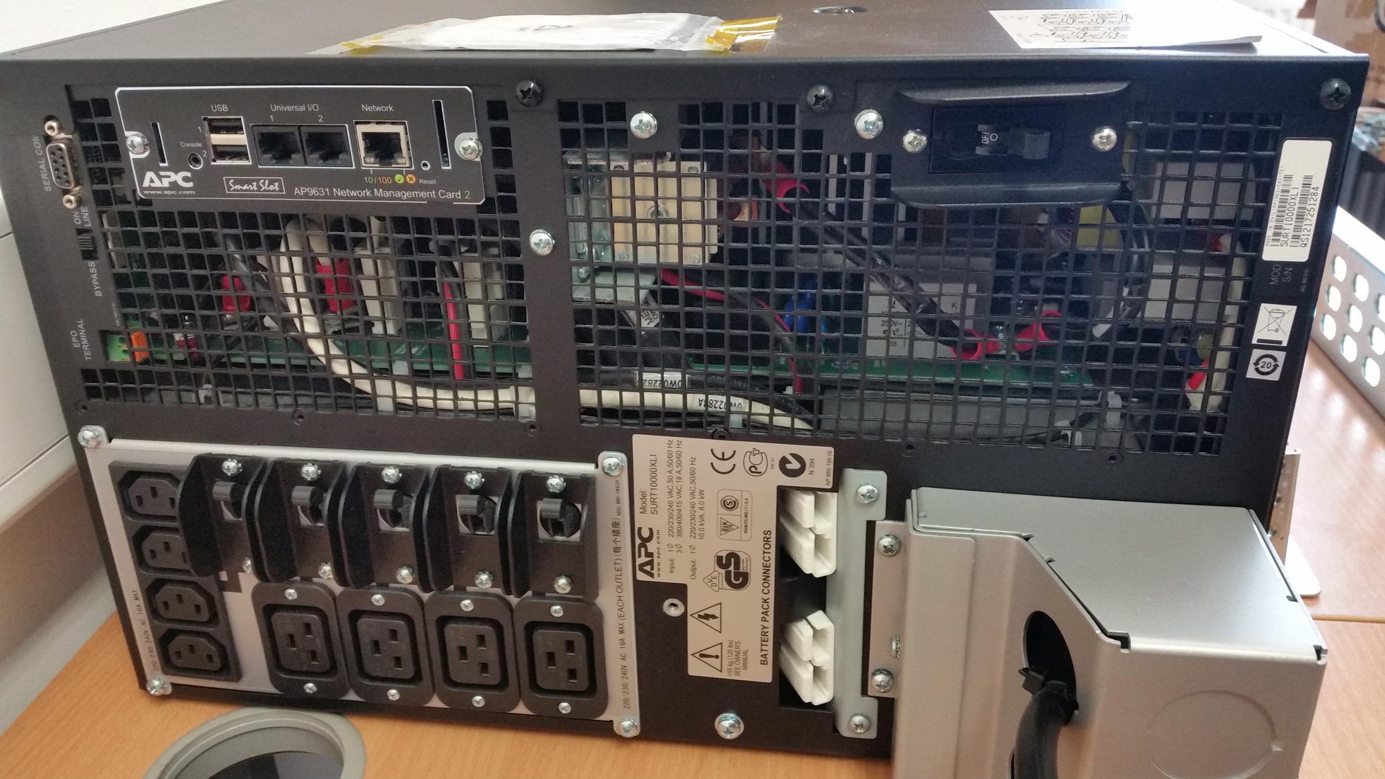 Apc Smart Ups Surt10000xli 10kva 8kw 32a 3 Pin 4 Batteries